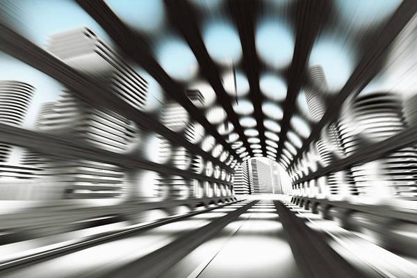 Outdoors Digital Art - Cityscape by Jorg Greuel