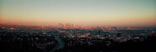 Mulholland Photograph - Cityscape Viewed From Mulholland Drive by Panoramic Images