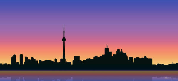 Digital Art - Cityscapes - Toronto Skyline - Sunset by Serge Averbukh