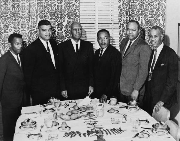 Wall Art - Photograph - Civil Rights Leaders, 1963 by Granger