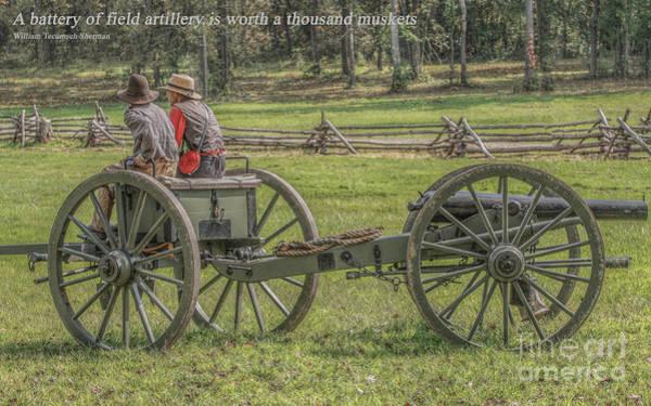 Artillery Digital Art - Civil War Artillery Quote by Randy Steele