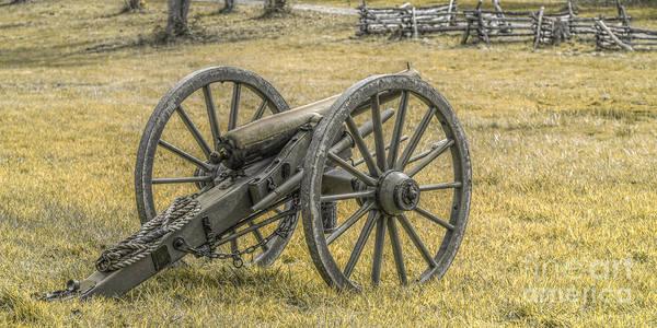 Cemetery Ridge Photograph - Civil War Cannon In Septia by Randy Steele