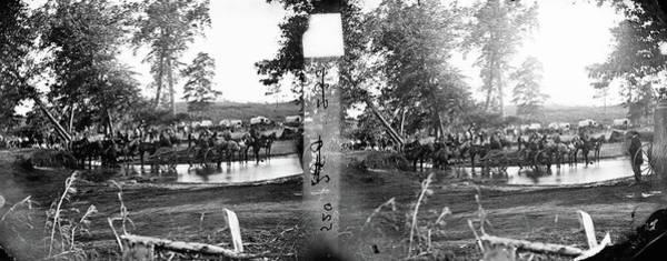 Wall Art - Photograph - Civil War Crossing, 1862 by Granger