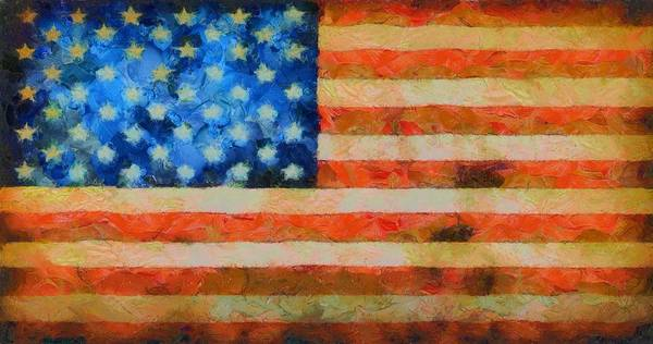 Wall Art - Painting - Civil War Flag by Dan Sproul