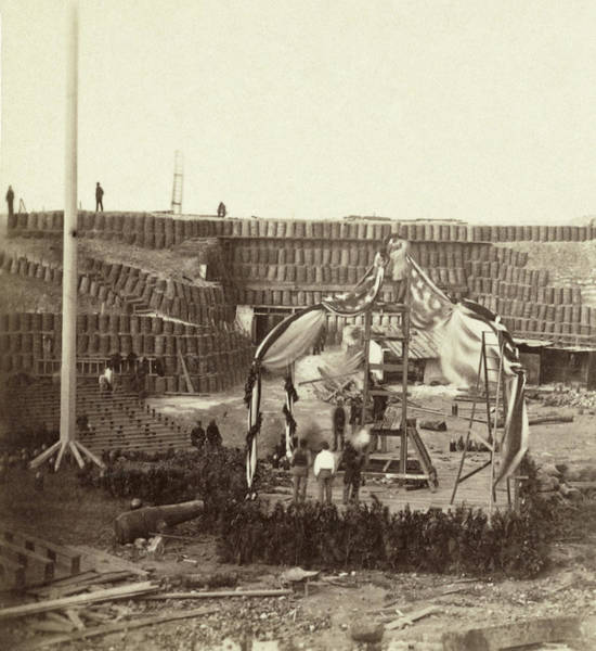Wall Art - Photograph - Civil War Fort Sumter, 1865 by Granger