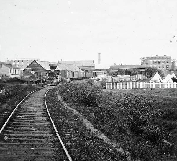 Wall Art - Photograph - Civil War Freight Train by Granger