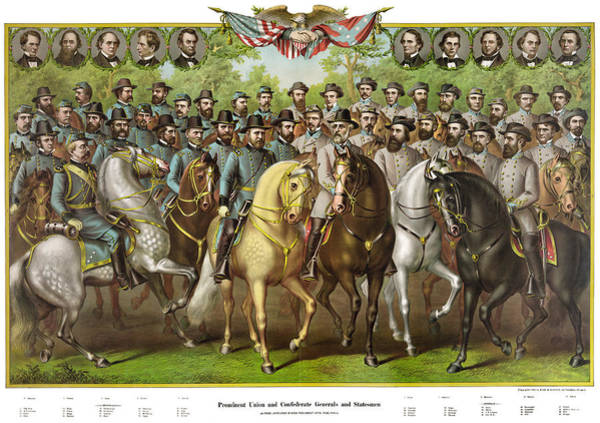 Wall Art - Painting - Civil War Generals by Granger