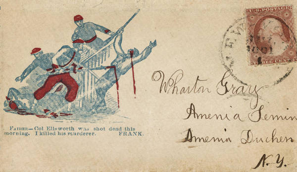 Photograph - Civil War Letter 23 by Andrew Fare