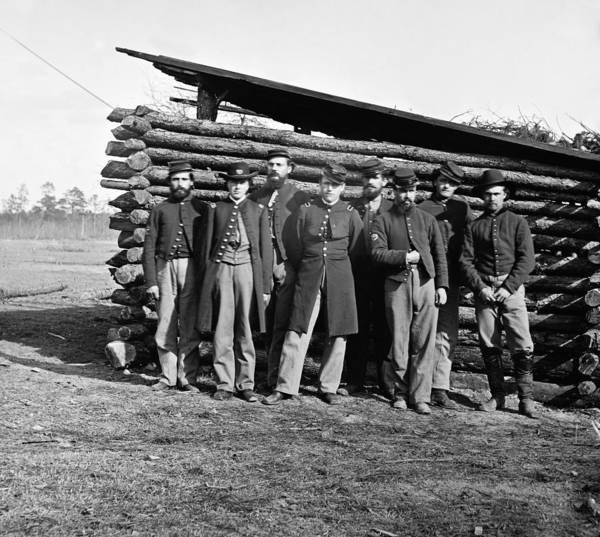 Lean-tos Photograph - Civil War Officers, C1865 by Granger