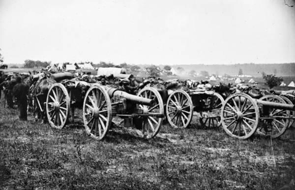 Wall Art - Photograph - Civil War Parrott Guns, 1862 by Granger