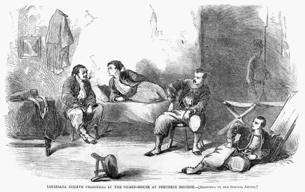 Wall Art - Painting - Civil War Pows, 1861 by Granger