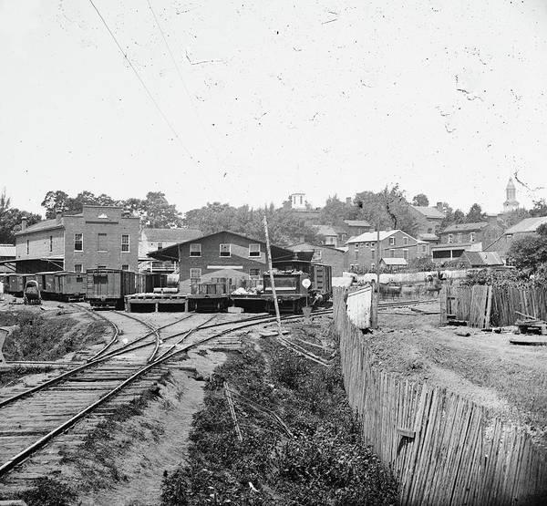 Warrenton Wall Art - Photograph - Civil War Railroad Depot by Granger