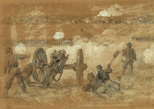 Wall Art - Drawing - Civil War Rapidan River by Granger