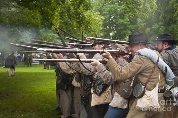 Civil War Reenactment 1 Art Print