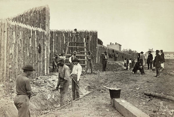 Wall Art - Photograph - Civil War Stockade by Granger