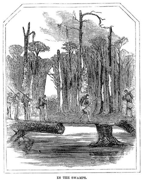 Wall Art - Painting - Civil War Swamp, 1863 by Granger