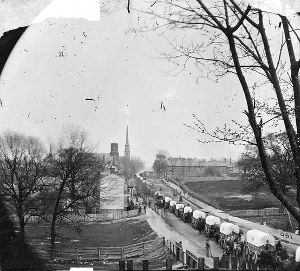 Wall Art - Photograph - Civil War Wagon Train by Granger