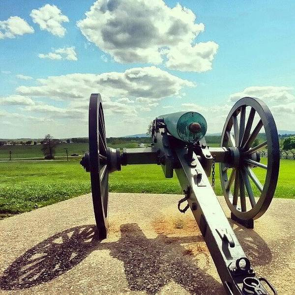 Weapon Photograph - #civilwar Era #canon At #gettysburg by Jim Amos
