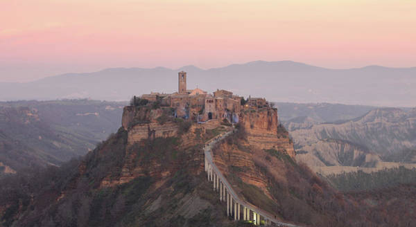 Pasquale Photograph - Civita Di Bagnoregio At Sunset by Nico De Pasquale Photography