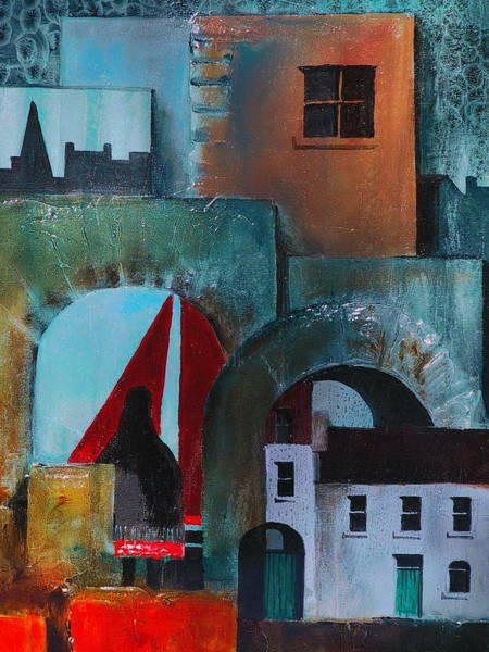 Galway Painting - Cladagh Spanish Arches Galway by Val Byrne