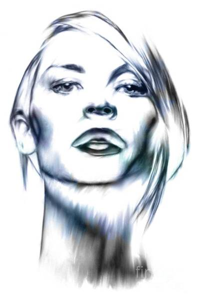 Dane Mixed Media - Claire Danes by Wu Wei