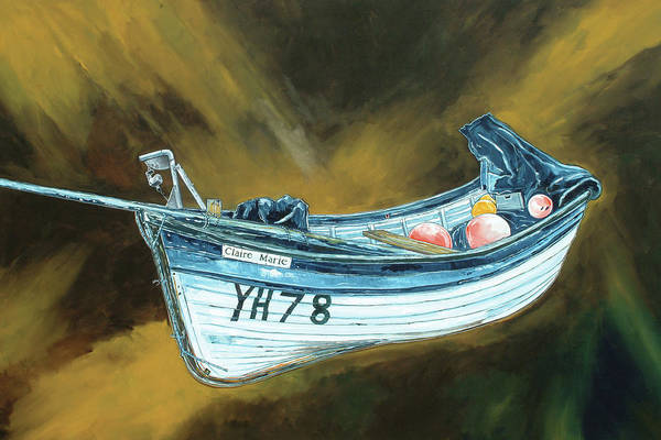 Fishing Boat Painting - Claire Marie Fishing Boat by Stuart Roy