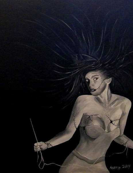 Voodoo Doll Painting - Clairise by Aarron  Laidig