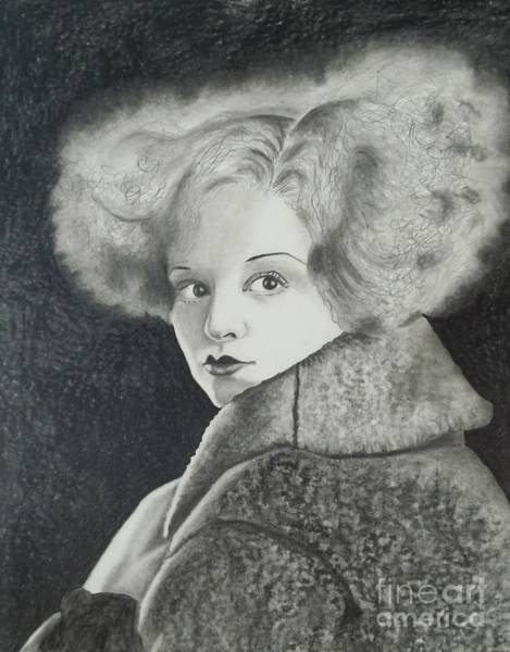 Hairdo Drawing - Clara Bow by Lise PICHE