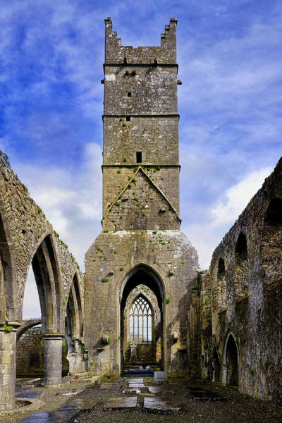 Photograph - Bell Tower Of The Claregalway Friary by Fabrizio Troiani