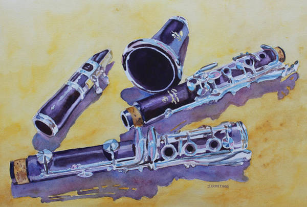 Musical Instrument Painting - Clarinet Candy by Jenny Armitage