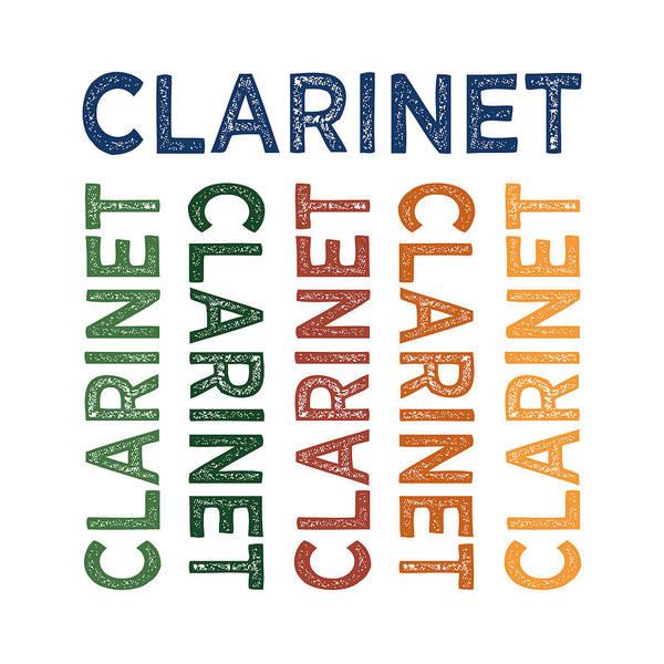 Clarinet Wall Art - Digital Art - Clarinet Cute Colorful by Flo Karp