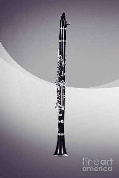 Photograph - Clarinet Instrument Music Black And White Sepia 3257.01 by M K Miller