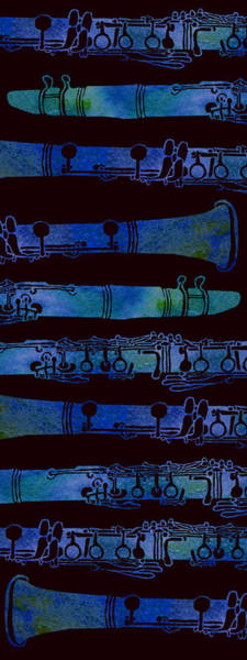 Cool Mixed Media - Clarinet Keys by Jenny Armitage