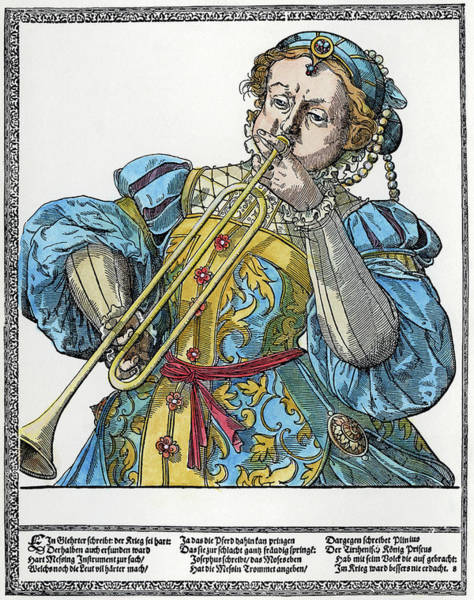 Clarion Wall Art - Painting - Clarion Player by Granger