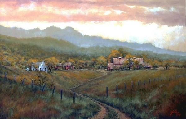 Country Scene Wall Art - Painting - Clark County Farm by Jim Gola