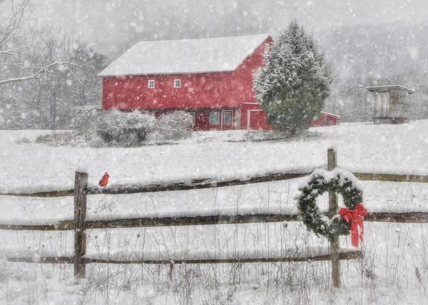Pennsylvania Barn Photograph - Clarks Valley Christmas 2 by Lori Deiter