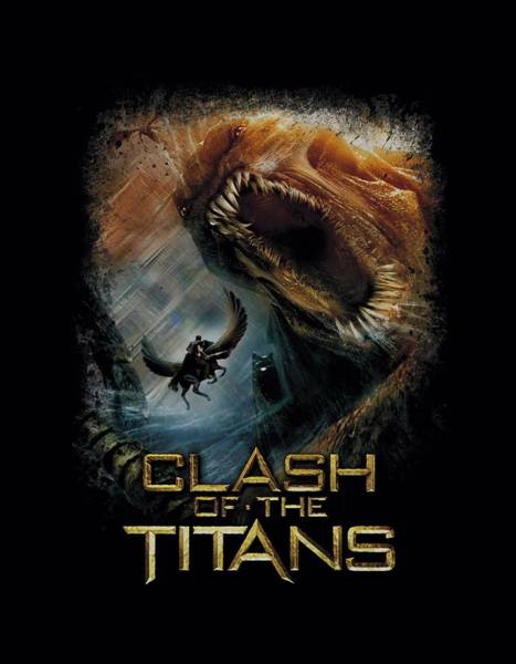 The Clash Wall Art - Digital Art - Clash Of The Titans - Kraken Clash by Brand A