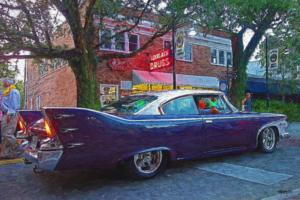 The Belvedere Photograph - Classic 1960 Purple Plymouth Belvedere Car by Rebecca Korpita