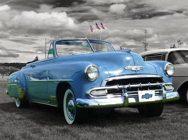 1604 Photograph - Classic Blue Chevy by Martin Brockhaus