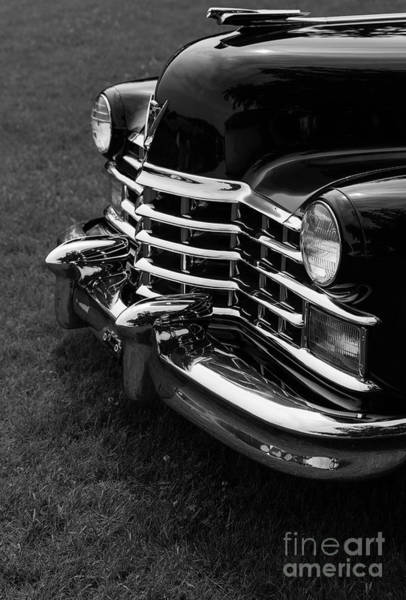 Lake George Photograph - Classic Cadillac Sedan Black And White by Edward Fielding
