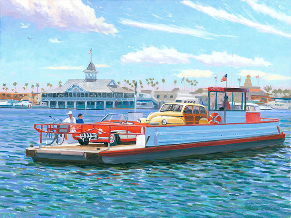 Newport Wall Art - Painting - Classic California by Steve Simon