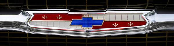 Grill Photograph - Classic Chevrolet Emblem by Mike McGlothlen
