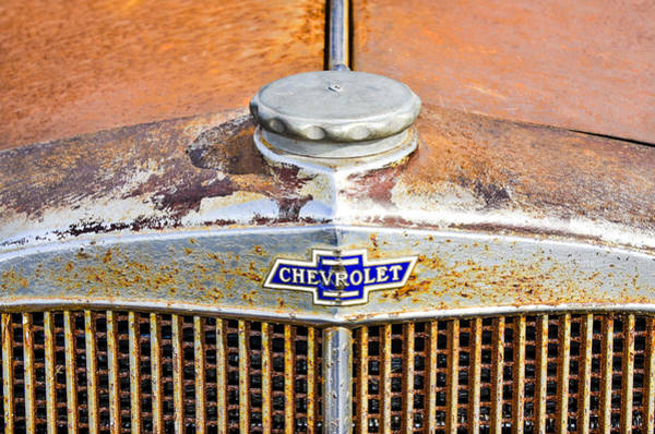 Photograph - Classic Chevy Hood by Carolyn Marshall