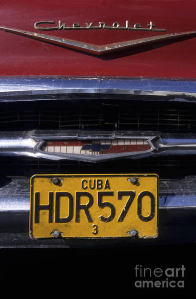 Photograph - Classic Chevy In Cuba by James Brunker