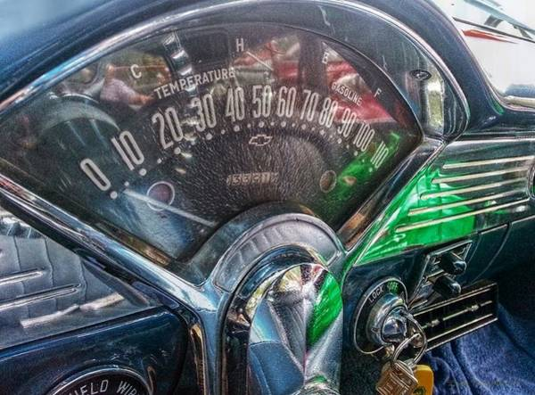 Dashboard Digital Art - Classic Chevy Sport by Linda Unger