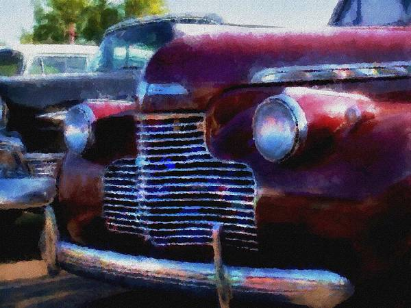 Photograph - Classic Chevy Water Color by Gary De Capua