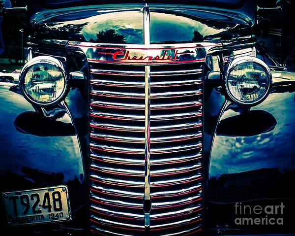 Street Rods Photograph - Classic Chrome Grill by Perry Webster