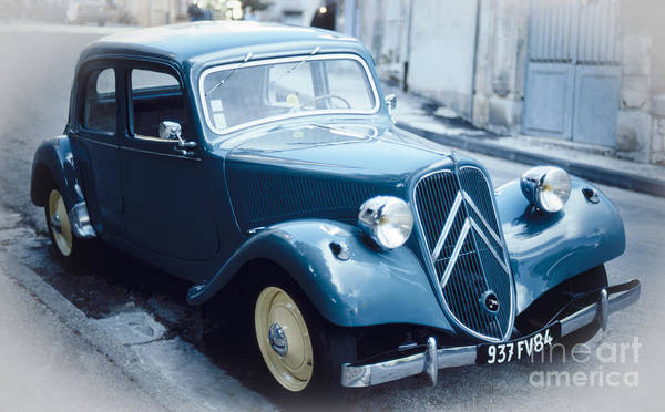 Photograph - Classic Citroen In Blue by Heiko Koehrer-Wagner