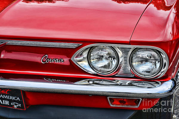 Corvair Photograph - Classic Corvair by Paul Ward