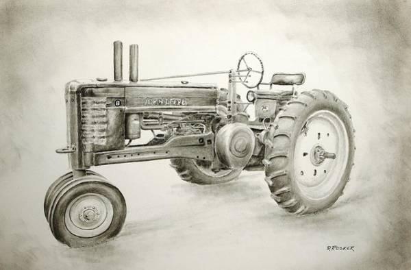 Farm Equipment Drawing - Classic Deere by Richard Rooker